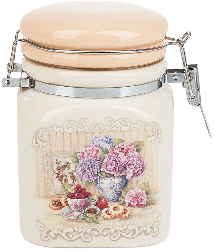 Банка для сыпучих продуктов Polystar Collection Sweet home, с зажимом-клипсой, 450 мл банка для сыпучих продуктов клипс садовая ягода h 17см 772273