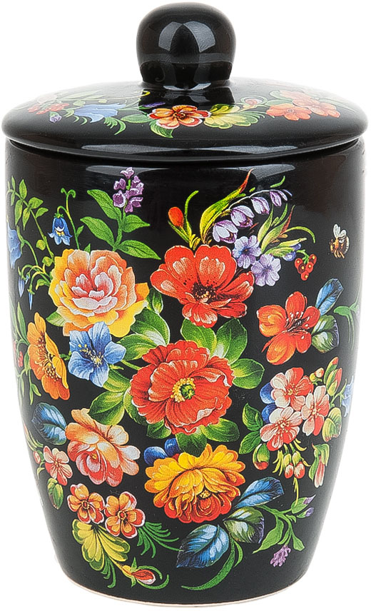 Банка для сыпучих продуктов Polystar Collection Романс, 600 мл банка для сыпучих продуктов polystar collection романс 0 45 л с ложкой