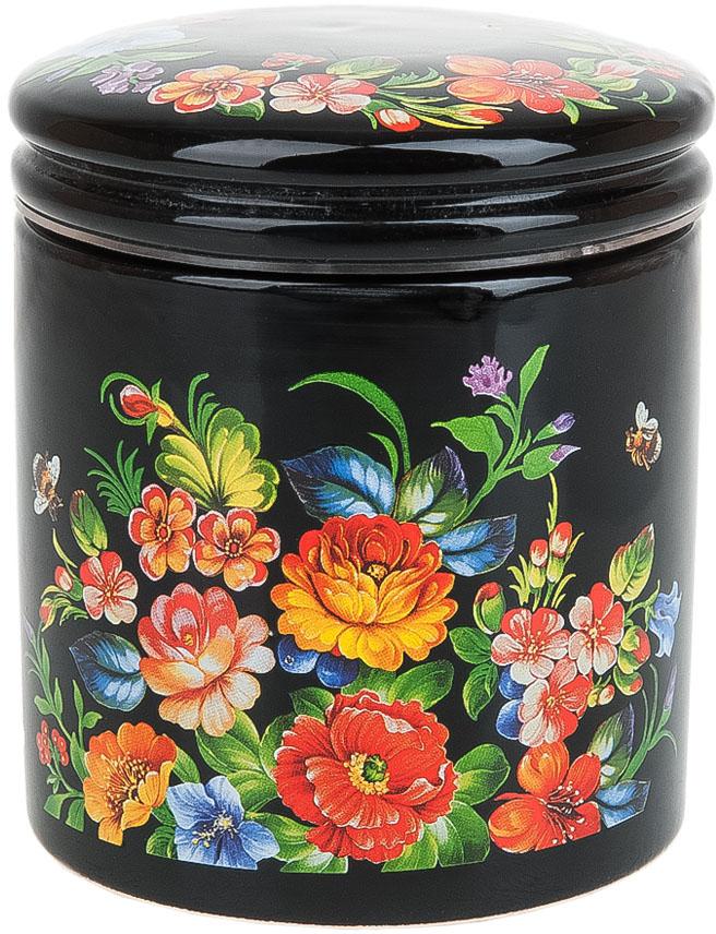 Банка для сыпучих продуктов Polystar Collection Романс, 450 мл банка для сыпучих продуктов polystar collection романс 0 45 л с ложкой