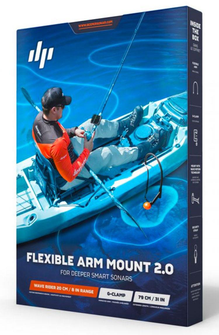 Крепление лодочное на транец Deeper Flexible Arm Mount 2.0 для эхолота + волновой компенсатор