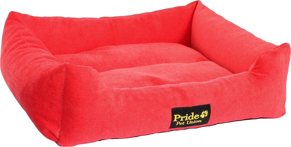 """Лежак для животных Pride """"Палитра"""", цвет: красный, 52 х 41 х 10 см. 10012460"""