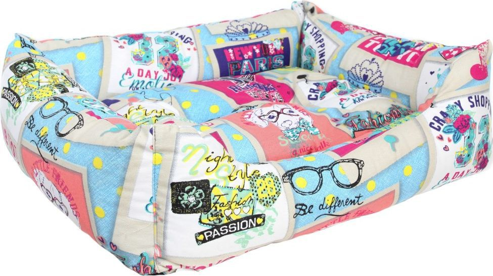 Лежак для животных Pride Крэйзи Шоппинг Дог, 70 х 60 х 23 см. 10012462