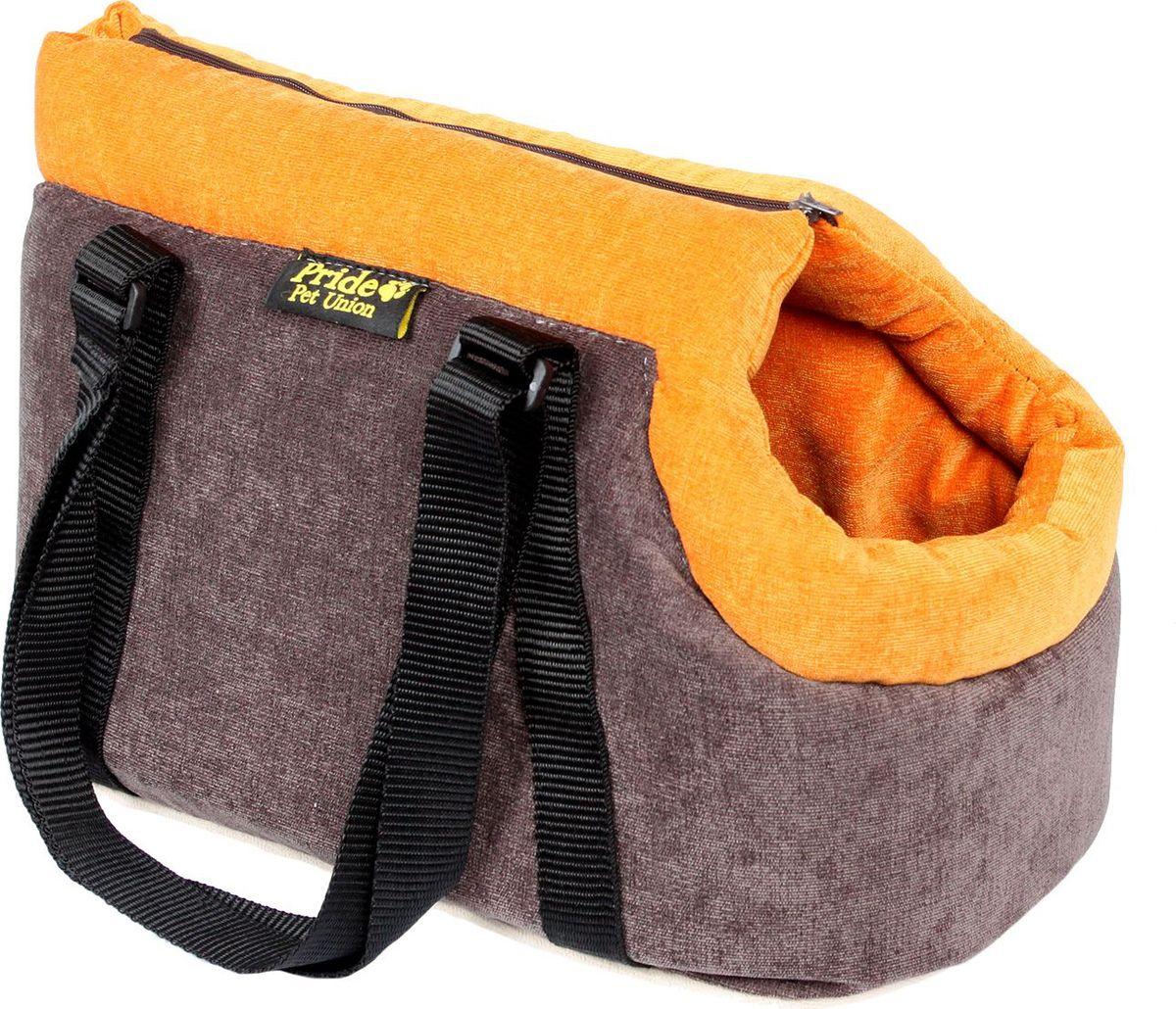 Сумка для животных Pride Трэвел. Апельсин, 30 х 20 х 20 см. 10051233 сумка для животных кантри pride 37х 22 х 21см