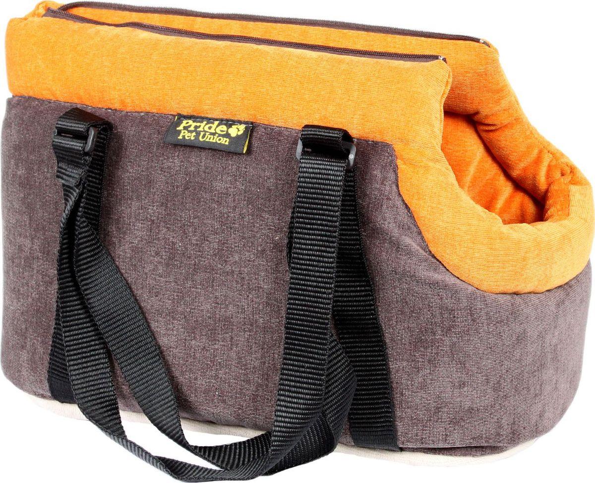 Сумка для животных Pride Трэвел. Апельсин, 48 х 26 х 26 см. 10051235 сумка для животных кантри pride 37х 22 х 21см