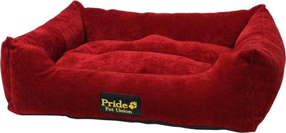 Лежак для животных Pride Палитра, цвет: бордовый, 52 х 41 х 10 см. 10021490