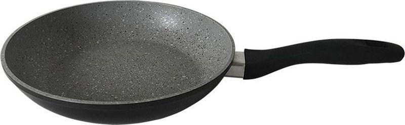 Сковорода Endever Stone, с мраморным покрытием, цвет: серый. Диаметр 24 см 24 stone grey сковорода алюминиевая с мраморным покрытием endever