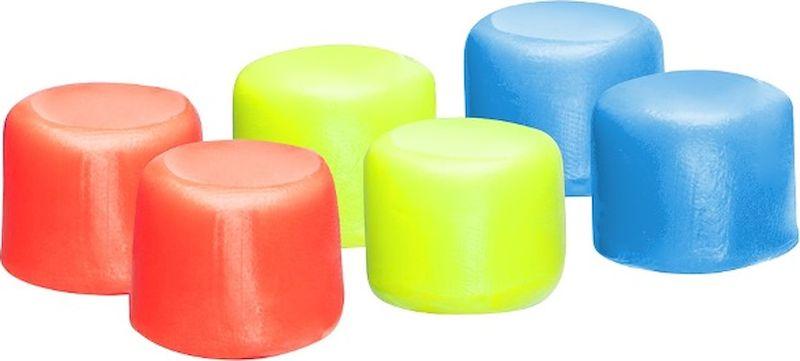 Беруши для бассейна TYR Youth Multi-Colored Silicone Ear Plugs, цвет: мультиколор, 6 шт. LEPY970 беруши трэвелдрим силиконовые защита от воды 4 2пары