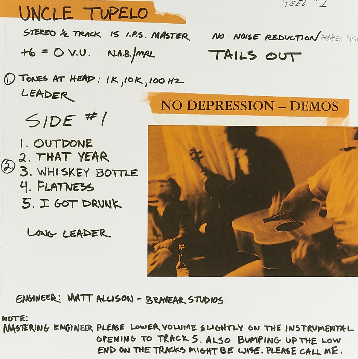 Uncle Tupelo Uncle Tupelo. No Depression - Demos (LP) uncle tom