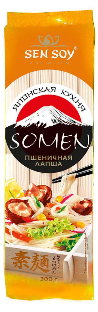 Sen Soy Premium Лапша пшеничная Somen, 300 г sen soy tempura японская панировочная мука 150 г