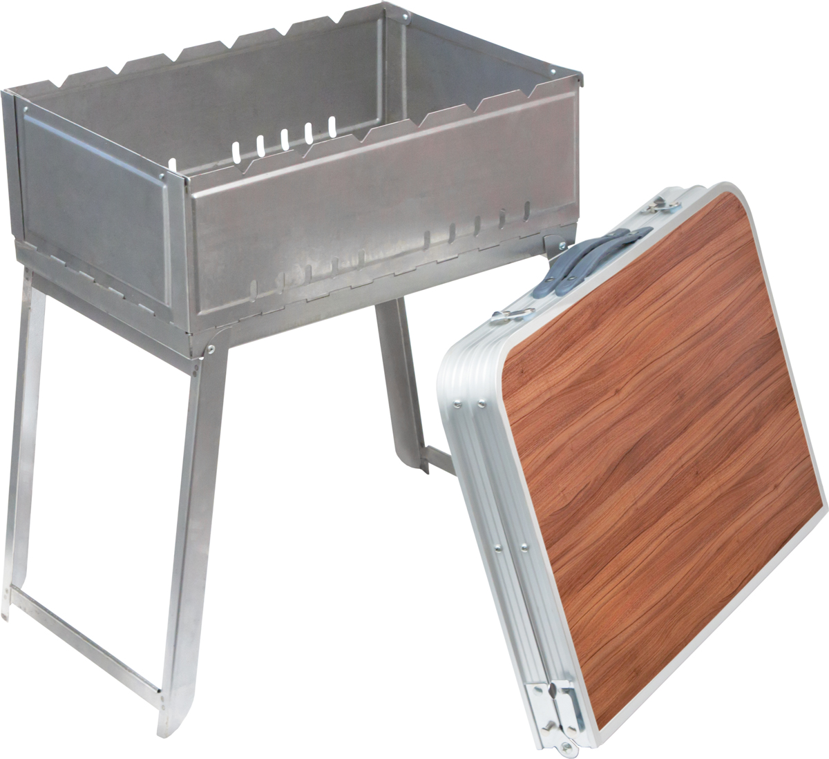 Стол-чемодан ПИКНИЧОК, с мангалом, сумкой, 76 х 55 х 34,5 см сумка для мангала royalgrill 52 х 32 см 80 071