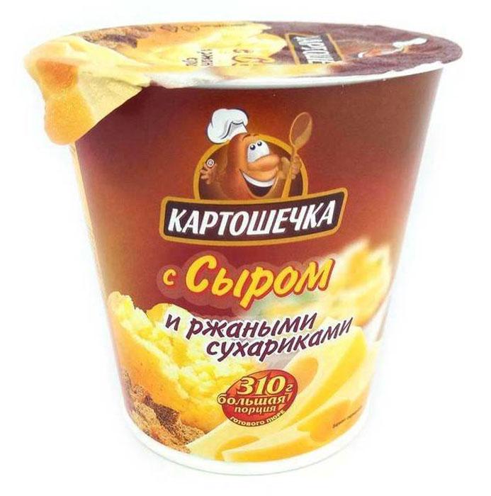Картошечка Пюре картофельное с ржаными сухариками и сыром, 50 г