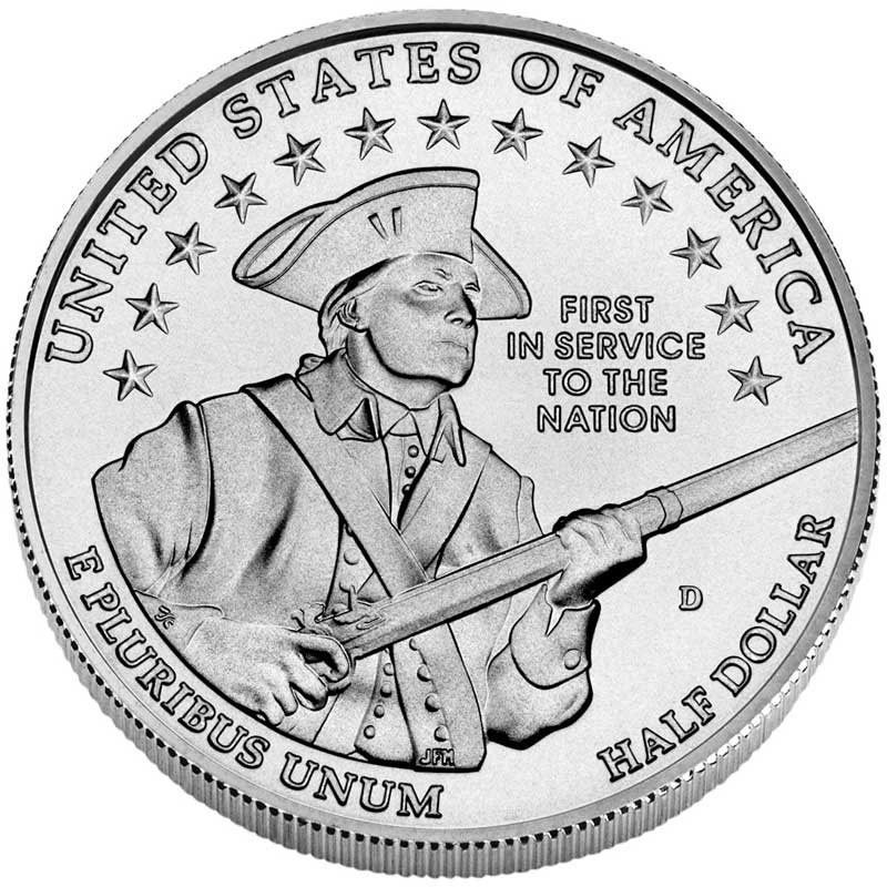 Монета номиналом 50 центов 2011 США Армия UNC монета номиналом 1 доллар 2016 сша марк твен серебро unc