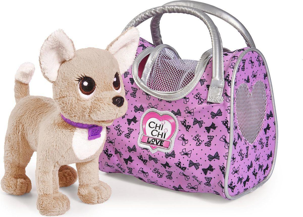 Simba Мягкая игрушка Собачка Путешественница с сумкой-переноской 20 см simba simba плюшевая собачка chi chi love путешественница с сумкой переноской 20см