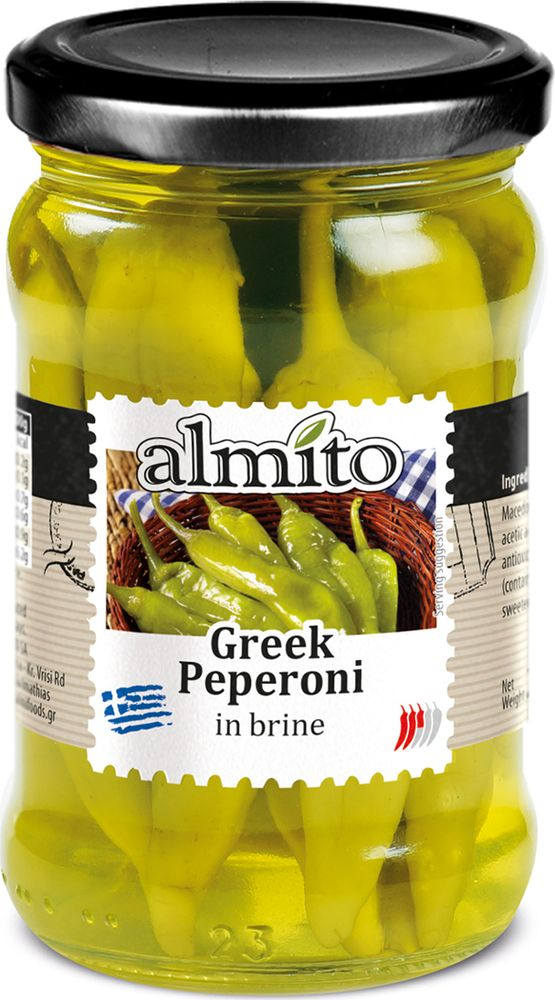 Almito Греческий маринованный зеленый перец, 320 мл