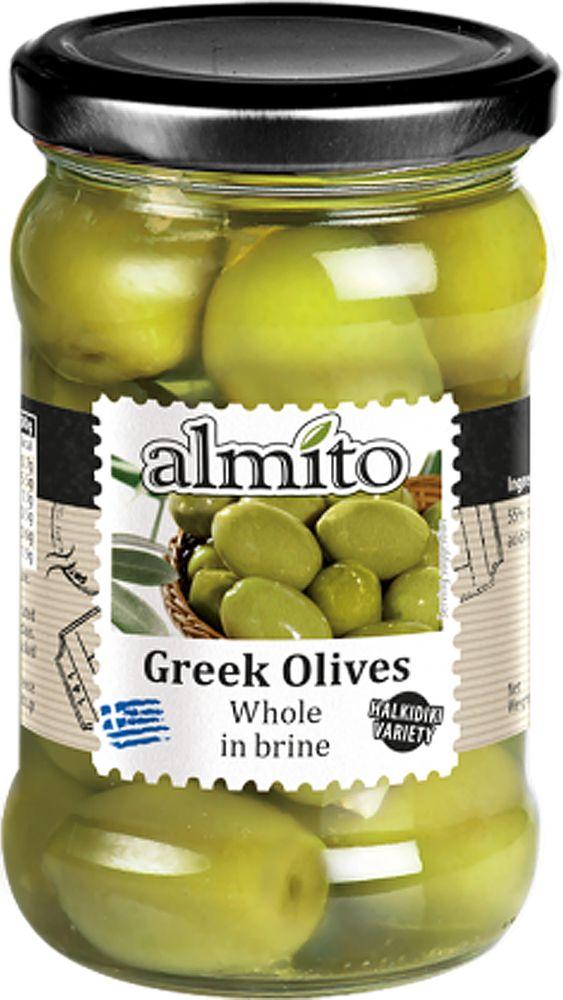 Almito Греческие оливки с косточкой, 320 мл греческие авиалинии