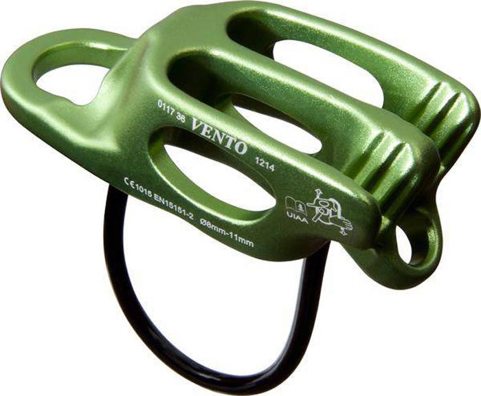 Устройство страховочно-спусковое VENTO Лукошко V2, цвет: зеленый устройство спусковое vento восьмерка рогатая цвет черный