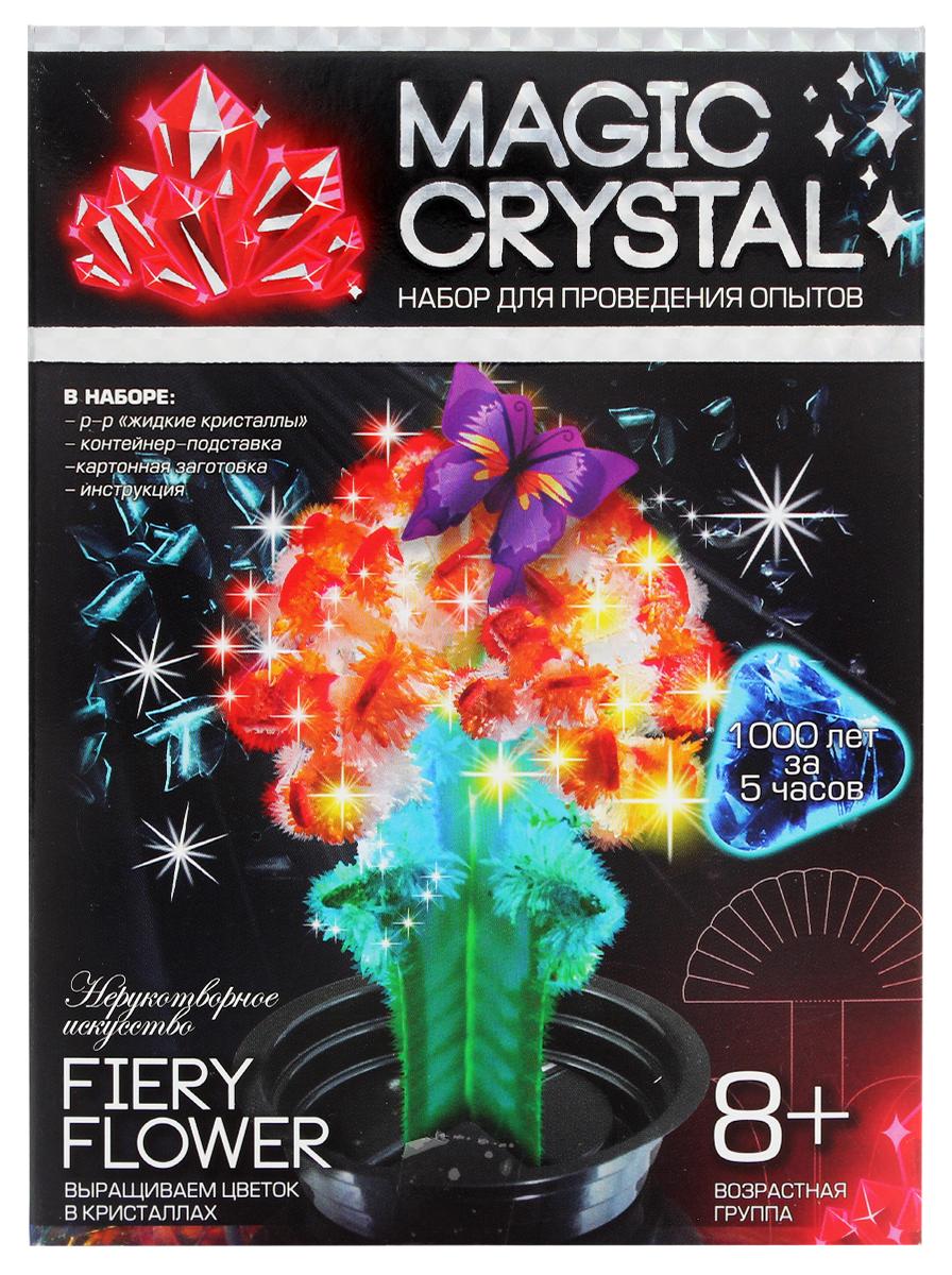ДанкоТойс Набор для проведения опытов Magic Crystal Нерукотворное искусство Набор 8 Fiery Flower набор для проведения опытов по выработке электричества
