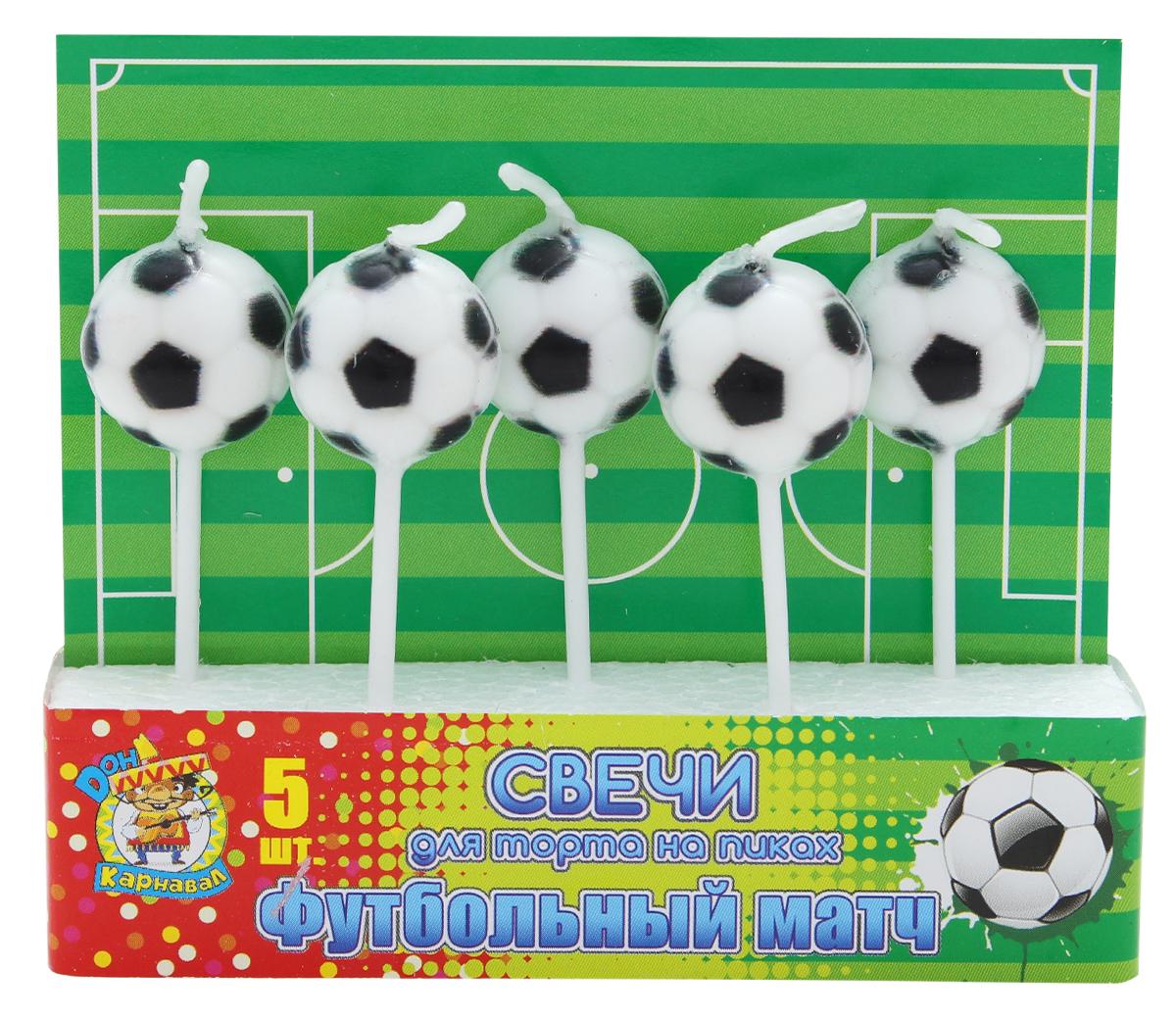 Miland Свечи для торта Футбольный матч 5 шт miland свечи для торта футбольный матч 5 шт