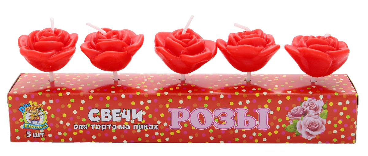 Miland Свечи для торта Розы 5 шт