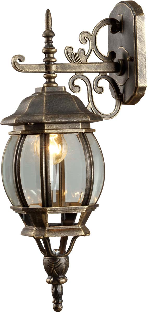 Светильник уличный Arte Lamp Atlanta, 1 х E27, 75 W, A1042AL-1BNA1042AL-1BNУличный светильник Arte Lamp Atlanta A1042AL-1BN подойдет для установки на улицу. Светильник Arte Lamp Atlanta A1042AL-1BN с овальными плафонами осветит территорию площадью 4.2 кв. м. Arte Lamp рекомендует использовать лампы накаливания с цоколем E27. Осветительный прибор сделан из стекла и металла.