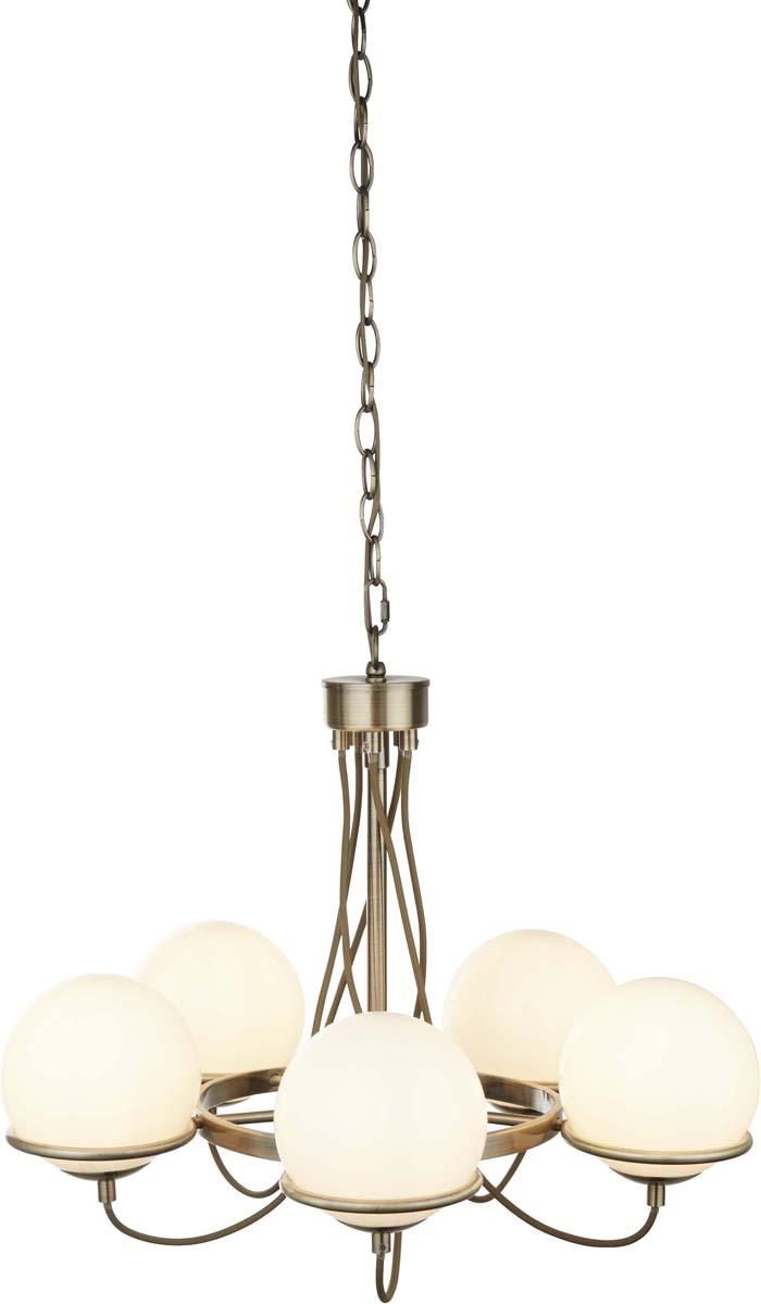 Светильник подвесной Arte Lamp Bergamo, цвет: бронза, 5 х E14, 40 W. A2990LM-5ABA2990LM-5AB