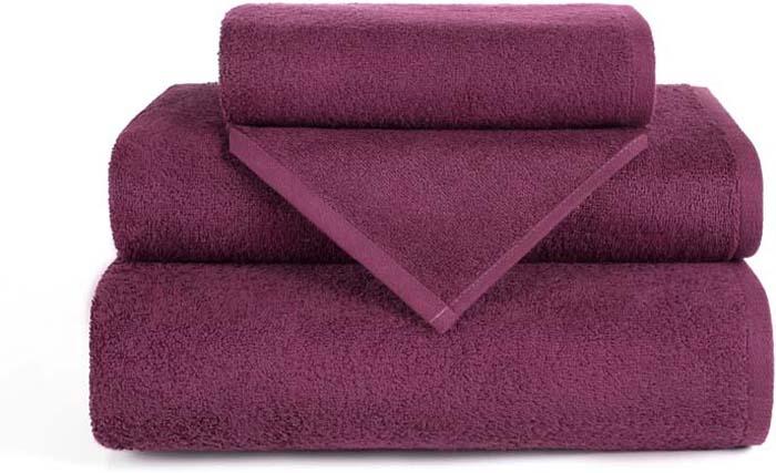 Полотенце махровое Aquarelle Валенсия, цвет: бордовый, 70 х 140 см полотенце махровое aquarelle волна цвет ваниль 70 x 140 см