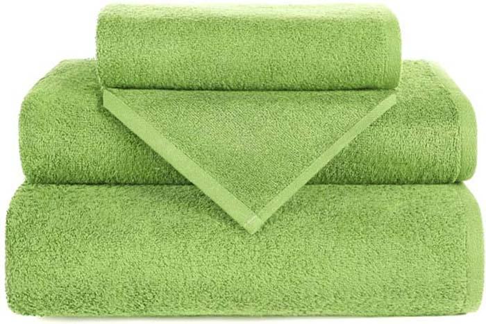 Полотенце махровое Aquarelle Валенсия, цвет: зеленый, 70 х 140 см полотенце махровое aquarelle волна цвет ваниль 70 x 140 см