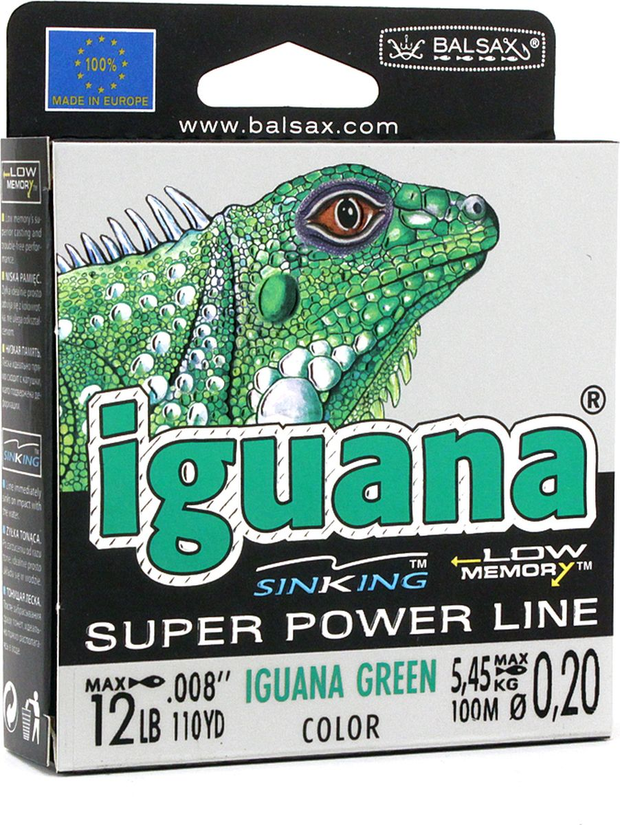 Леска Balsax Iguana, 100 м, 0,20 мм, 5,45 кг