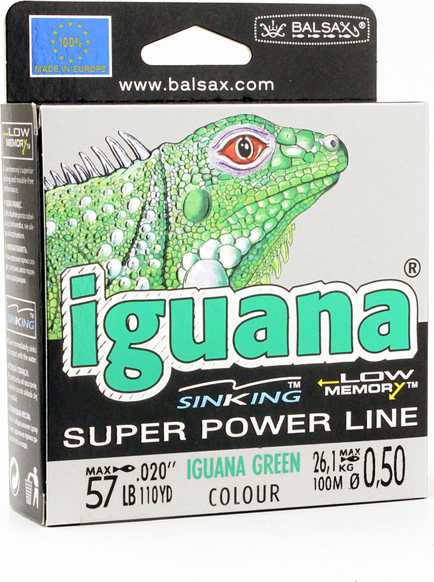 Леска Balsax Iguana, 100 м, 0,50 мм, 26,1 кг