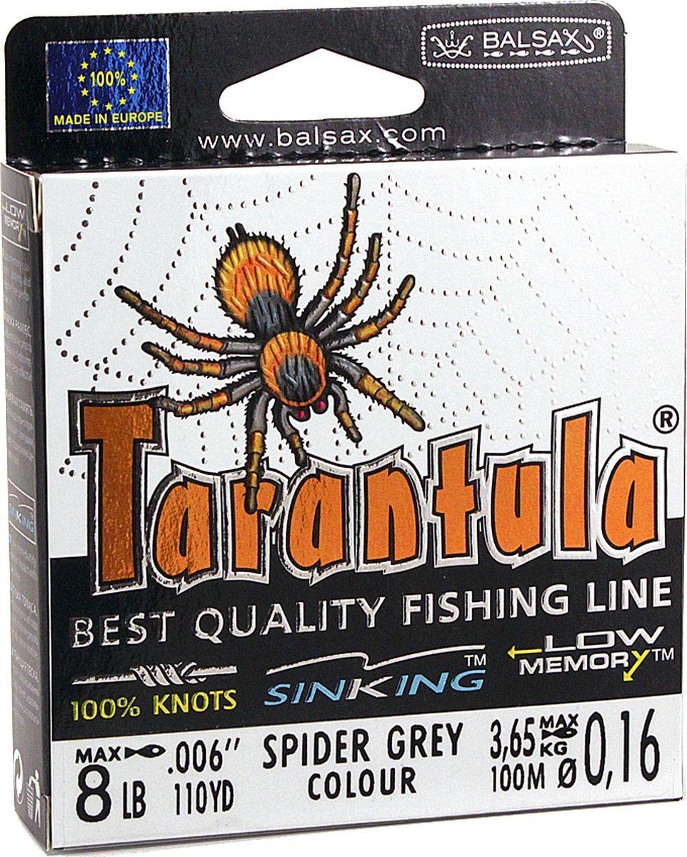 Леска Balsax Tarantula, 100 м, 0,16 мм, 3,65 кг леска balsax tarantula 100 м 0 55 мм 29 7 кг