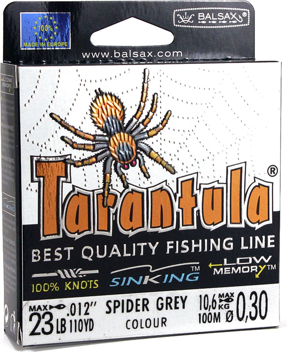 Леска Balsax Tarantula, 100 м, 0,30 мм, 10,6 кг