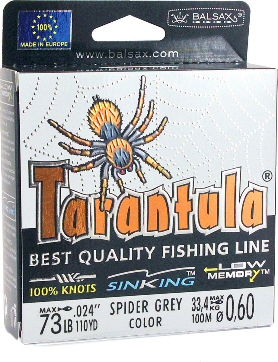 Леска Balsax Tarantula, 100 м, 0,60 мм, 33,4 кг леска balsax tarantula 100 м 0 55 мм 29 7 кг