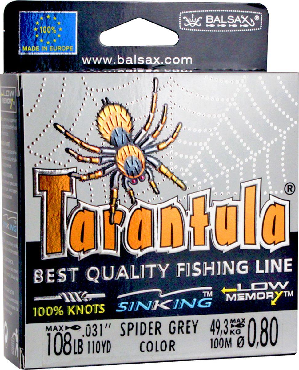 Леска Balsax Tarantula, 100 м, 0,80 мм, 49,3 кг леска balsax tarantula 100 м 0 55 мм 29 7 кг