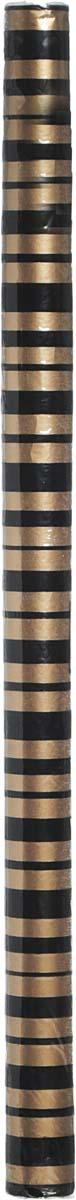 Бумага упаковочная Veld-Co, с элементами флока, цвет: золотистый,черный 70 см х 1 м коробка подарочная veld co giftbox трансформер яркость цвет черный 10 3 х 10 3 х 9 8 см