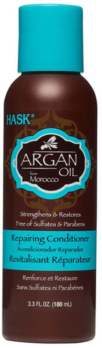 Hask Восстанавливающий мини-кондиционер для волос с Аргановым маслом, 100 мл redken кондиционер с аргановым маслом для сухих и ломких волос all soft 250 мл