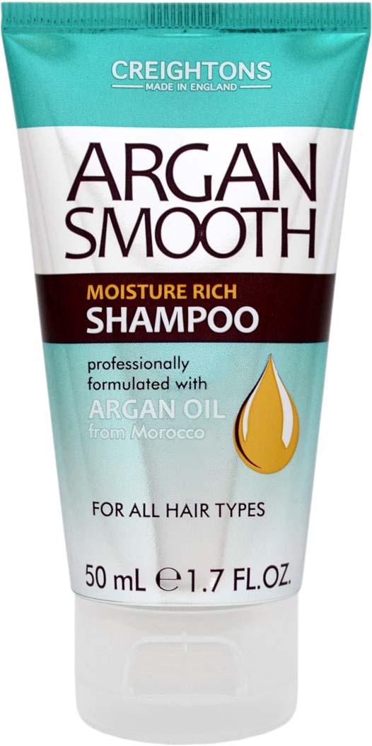 Creightons Мини-шампунь для глубокого увлажнения волос с аргановым маслом, 50 мл creightons дуо набор глубокое увлажнение волос с аргановым маслом шампунь кондиционер
