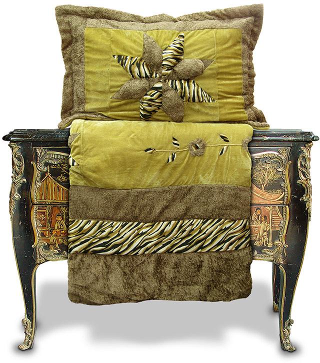 """Комплект для спальни Tango """"Patchwork Big Star"""": покрывало 230 х 250 см, наволочки 50х70 см, цвет: бежевый, серый"""