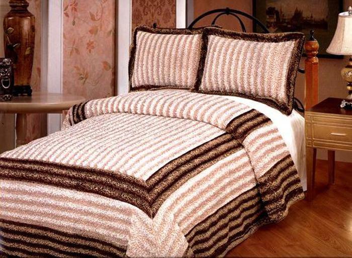 """Комплект для спальни Tango """"Каракуль"""": покрывало 230 х 250 см, наволочки 50 х 70 см, цвет: светло-бежевый, коричневый"""