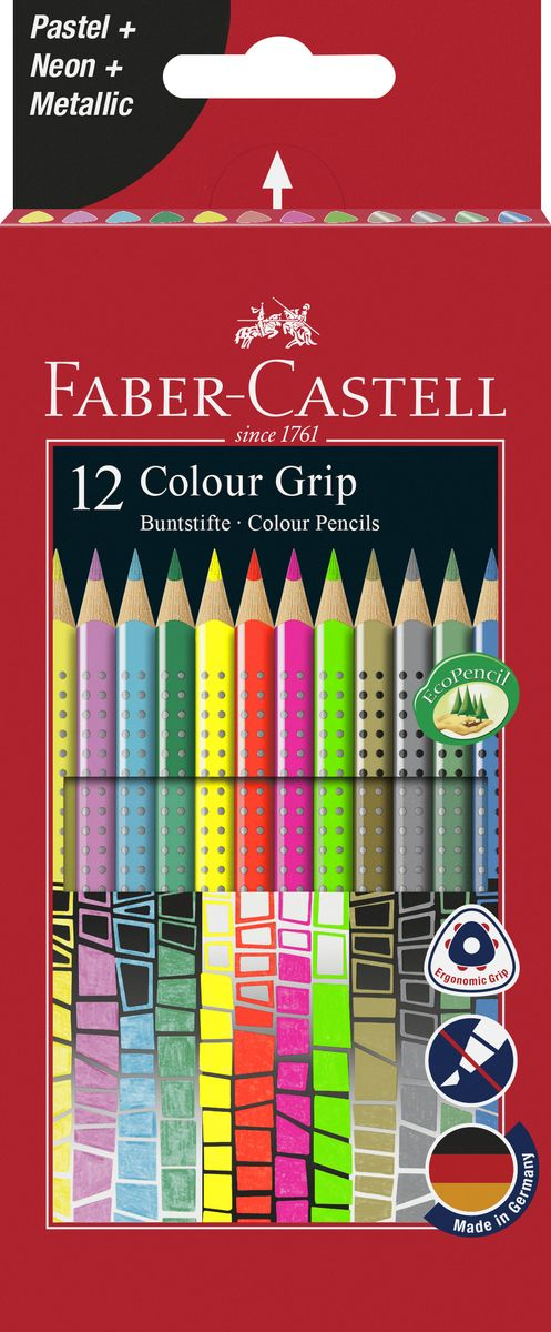 Faber-Castell Цветные карандаши Grip 12 шт
