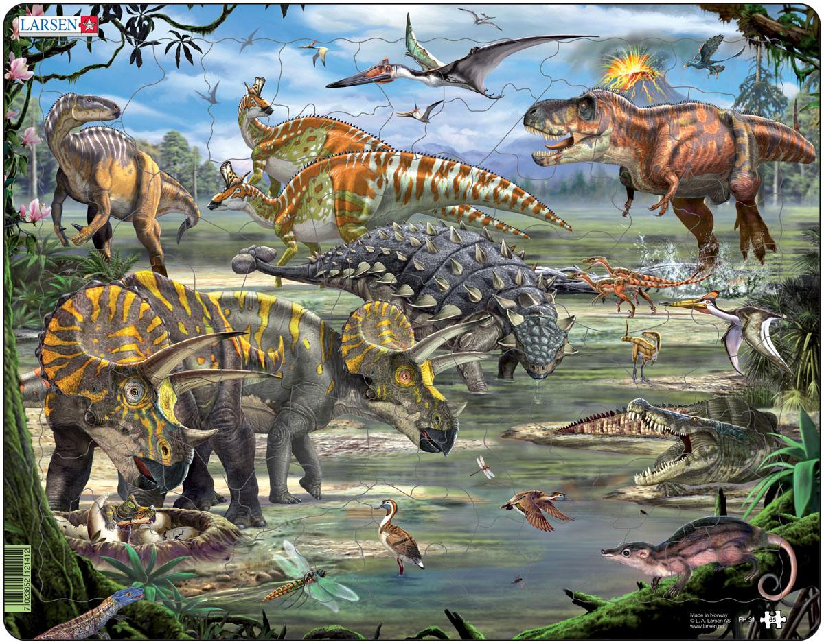Larsen Пазл Динозавры FH31 цена 2017