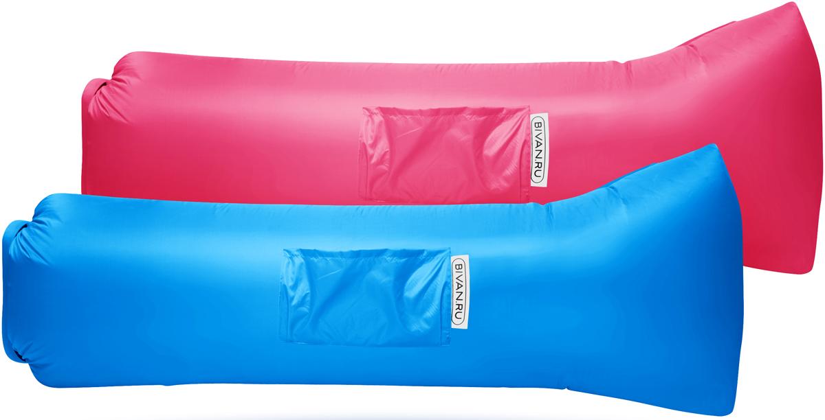 """Диван надувной """"Биван 2.0"""", цвет: розовый, голубой, 190 х 90 см, 2 шт"""