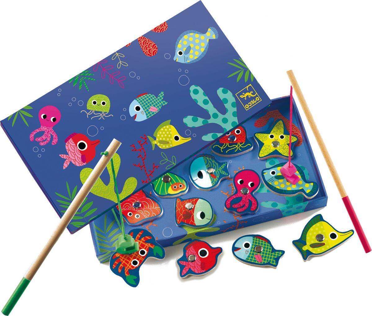Djeco Обучающая игра рыбалка Цвета djeco обучающая игра счеты