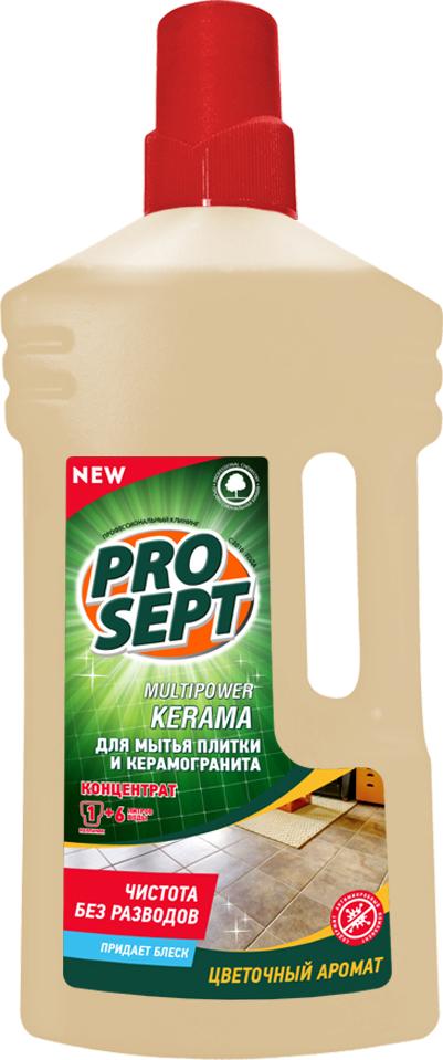 Средство Prosept Multipower, для мытья плитки и керамогранита, 1 л концентрат для мытья полов и стен prosept multipower полевые цветы 800 мл