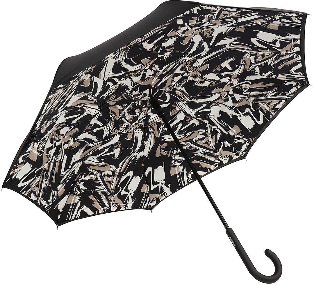 Зонт-трость женский Doppler, механика, цвет: черный. 73936515 зонт зонт наоборот bordo