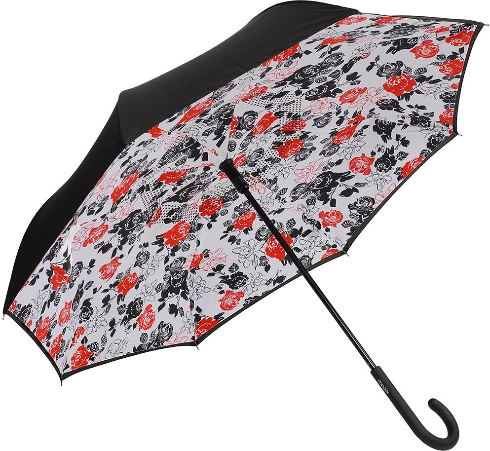 Зонт-трость женский Doppler, механика, цвет: красный . 73936516 зонт трость женский doppler цвет красный 714765l