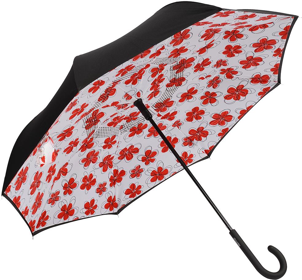 Зонт-трость женский Doppler, механика, цвет: красный . 73936517 зонт трость женский doppler цвет красный 714765l