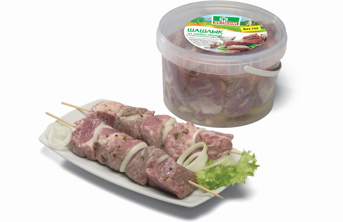 Шашлык из свиной шейки Велком, ведро, 2,1 кг Велком