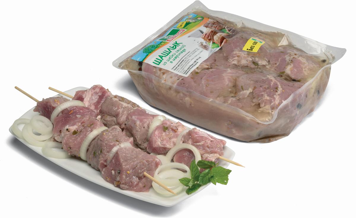 Велком Шашлык из свиной шейки, вакуумная упаковка, 2 кг Велком