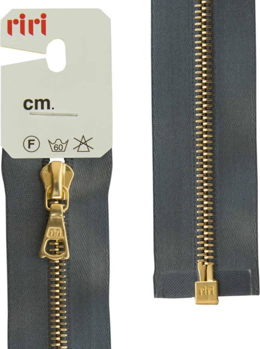 Застежка-молния Riri, Gold, разъемная, 1 замок, на атласной тесьме, цвет: серый стальной (2121), 65 х 0,4 см молния riri gold разъемная 1 замок на атласной тесьме цвет голубовато серый 9112 65 х 0 4 см