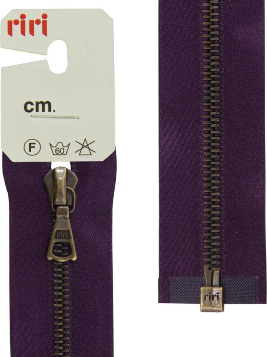 Застежка-молния Riri AM, разъемная, на атласной тесьме, цвет: темно-фиолетовый (2510), ширина 4 мм, длина 65 см